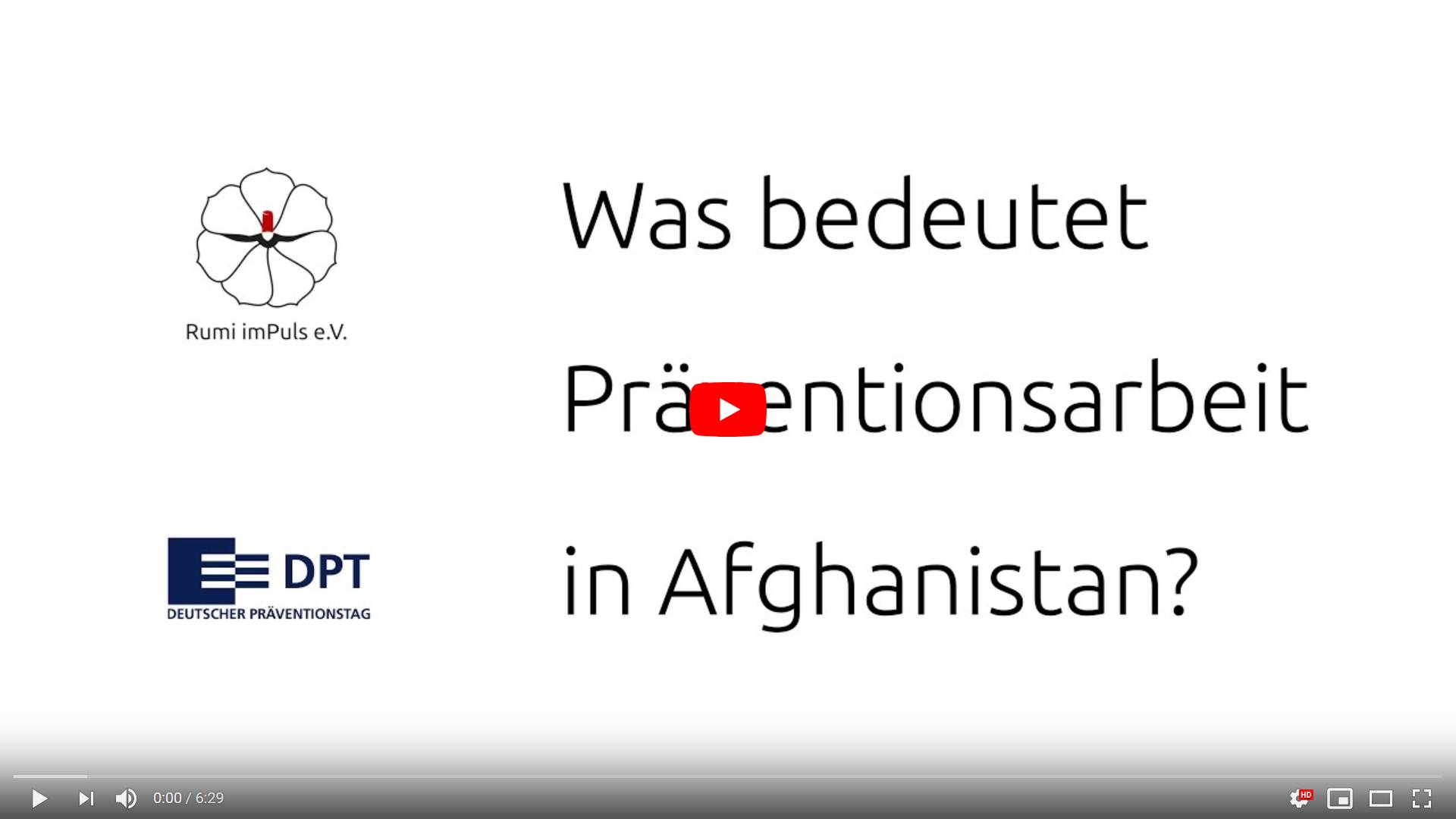 DPT 2020 Youtube Video über Afghanistan